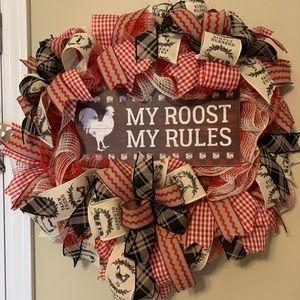 Deco mesh handmade wreath